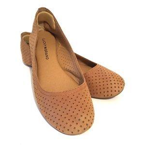 Lucky Brand Tan Mesh Ballet Flats